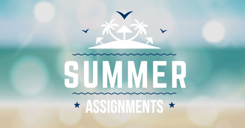 summer assignments for students