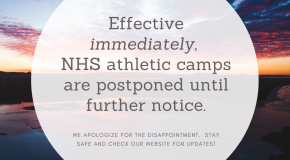 Athletic Camps are Postponed