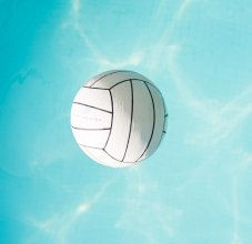 water polo ball floating