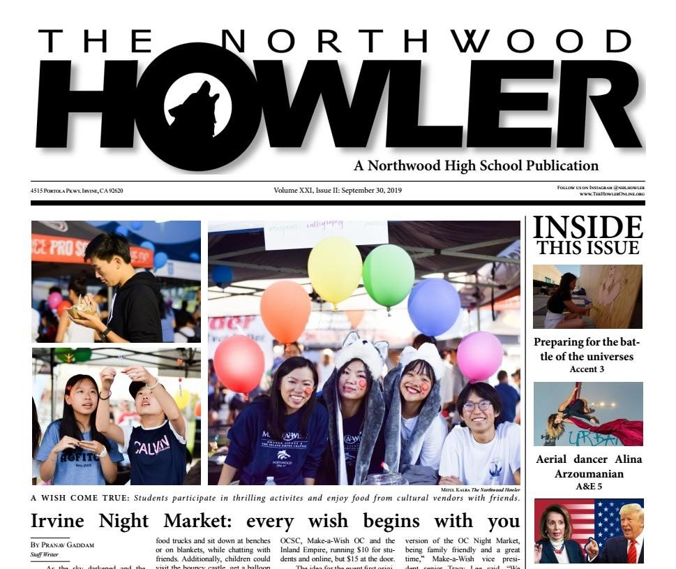 Howler Front Page